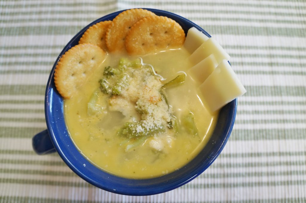 Cheesy Chicken Veggie Soup