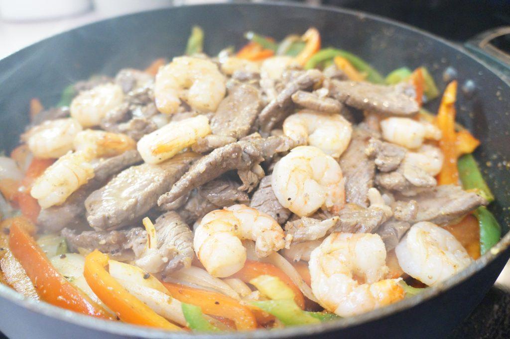 Steak & Shrimp Fajitas